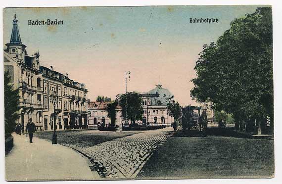 70047275 Baden-Baden Bahnhofplatz Baden-Baden - Deutschland - Rücknahmen akzeptiert - Deutschland