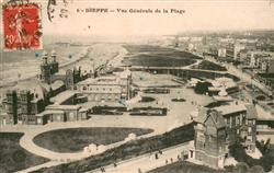 13618816 Dieppe_Seine-Maritime Vue generale de la Plage Dieppe Seine-Maritime