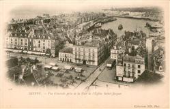 13665891 Dieppe_Seine-Maritime Vue générale prise de la tour de l'Eglise Saint J