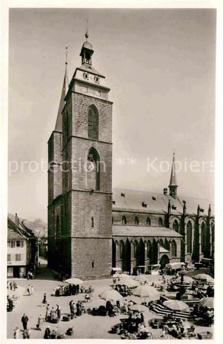 42650124 Neustadt Haardt Marktplatz mit Stiftskirche Neustadt an der Weinstr. - Deutschland - Rücknahmen akzeptiert - Deutschland