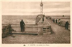 13283555 Dieppe_Seine-Maritime La Jetee et le Phare Dieppe Seine-Maritime