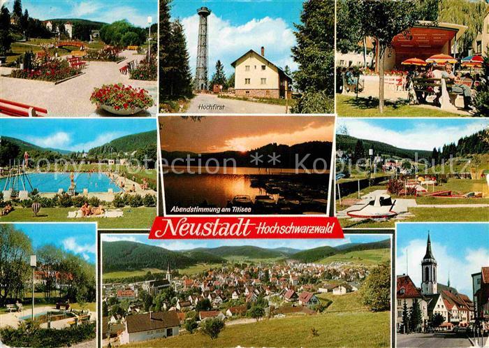 Titisee Neustadt 42811939 Neustadt Schwarzwald Hochfirst Schwimmbad Kirche Minigolf Kurgarten Tit