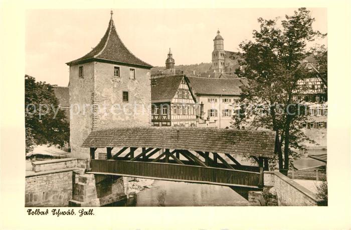 42946338 Schwaebisch Hall Turm Holzbruecke Schwaebisch ...