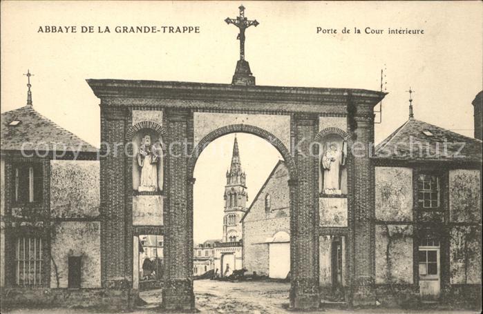 Ka22801 soligny la trappe abbaye de la grande trappe porte for Porte de cour