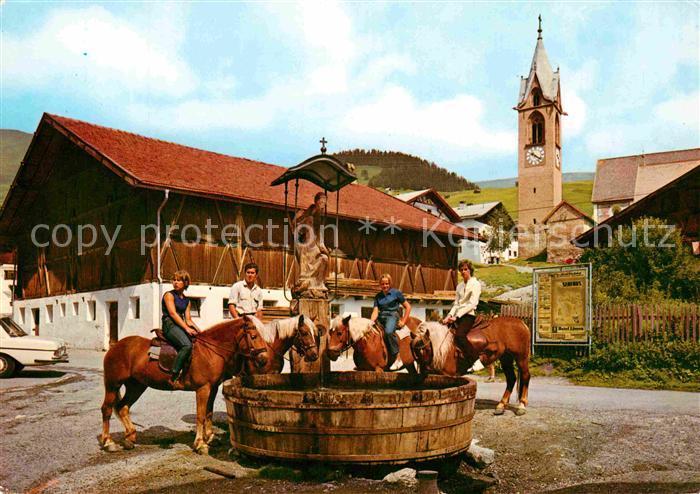 72772086 Serfaus Tirol Pferde am Brunnen Oberinntal Serfaus - Deutschland - Rücknahmen akzeptiert - Deutschland