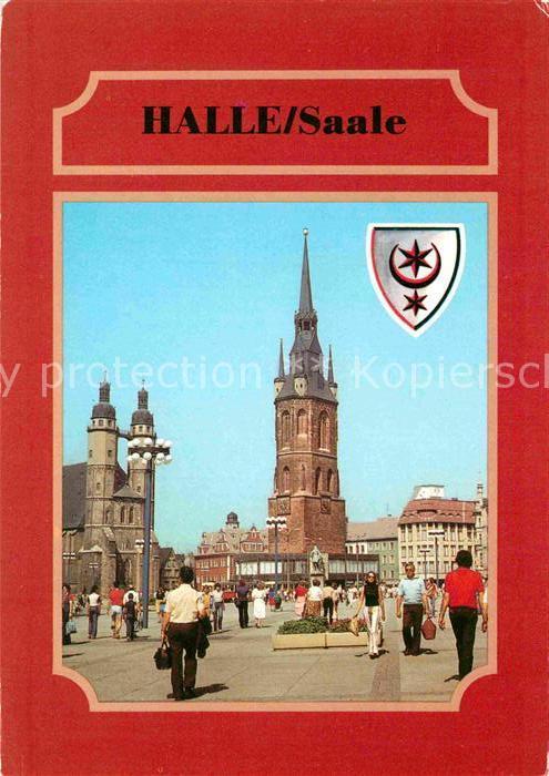 72829147 halle saale marktplatz marktkirche haendeldenkmal roter turm halle ebay. Black Bedroom Furniture Sets. Home Design Ideas