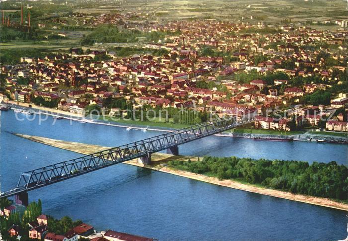 72111126 Neuwied Rhein mit Bruecke Fliegeraufnahme Neuwied - 79576, Deutschland - Rücknahmen akzeptiert - 79576, Deutschland