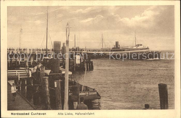 72199234 Cuxhaven Nordseebad Alte Liebe Hafeneinfahrt Bahnpost Cuxhaven - <span itemprop=availableAtOrFrom>79576, Deutschland</span> - Rücknahmen akzeptiert - 79576, Deutschland