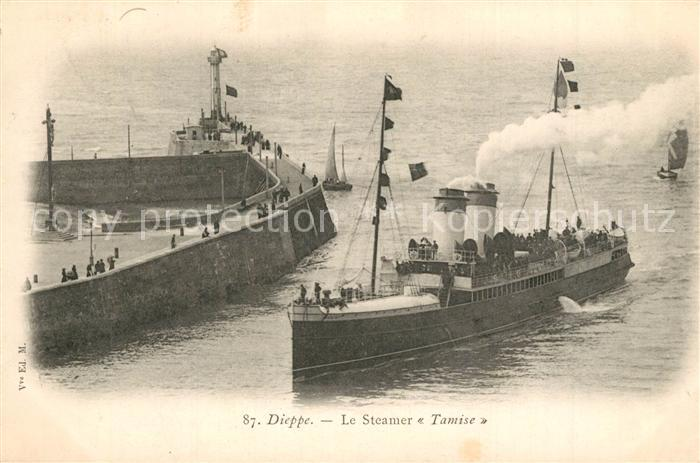 13491235 Dieppe_Seine-Maritime Le Steamer Tamise Dieppe Seine-Maritime
