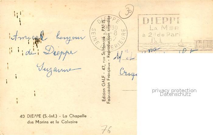 13491239 Dieppe_Seine-Maritime Chapelle des Marins et le Calvaire Dieppe Seine-M