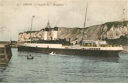 13491237 Dieppe_Seine-Maritime Bateau Départ du Brighton Dieppe Seine-Maritime