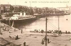 13491248 Dieppe_Seine-Maritime Le Port Gare maritime et Quai Henri IV Dieppe Sei