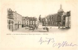 13492749 Dieppe_Seine-Maritime Statue de Duquesne Eglise Saint Jacques Dieppe Se
