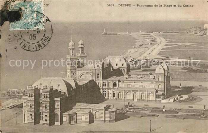 13531057 Dieppe_Seine-Maritime Panorama de la Plage et du Casino Dieppe Seine-Ma