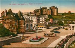 13530848 Dieppe_Seine-Maritime Les Tourelles le Theatre et le Chateau Dieppe Sei