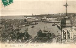 13531059 Dieppe_Seine-Maritime Le Port et le Clocher Saint Jacques Dieppe Seine-