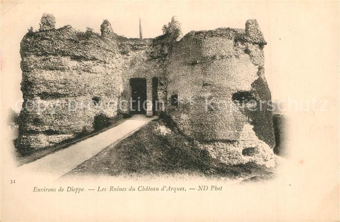 13533845 Dieppe_Seine-Maritime Les Ruines du Chateau d`Arques Dieppe Seine-Marit