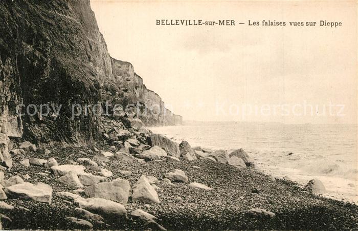 13540000 Belleville-sur-Mer Falaises vues sur Dieppe Belleville-sur-Mer