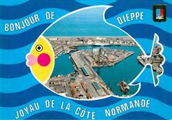 13545897 Dieppe_Seine-Maritime Vue generale sur le port Dieppe Seine-Maritime