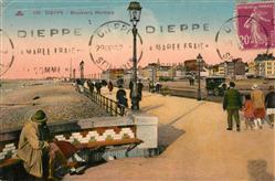 13551676 Dieppe_Seine-Maritime Boulevard Maritime et la plage Dieppe Seine-Marit