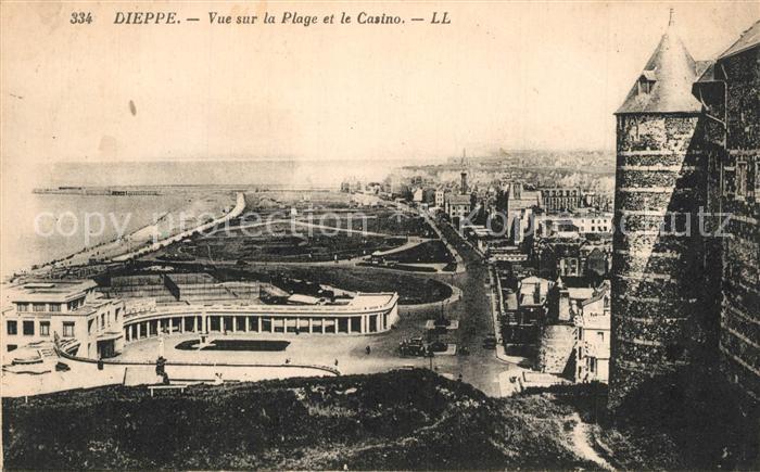 13558178 Dieppe_Seine-Maritime Vue sur la plage et le casino Dieppe Seine-Mariti
