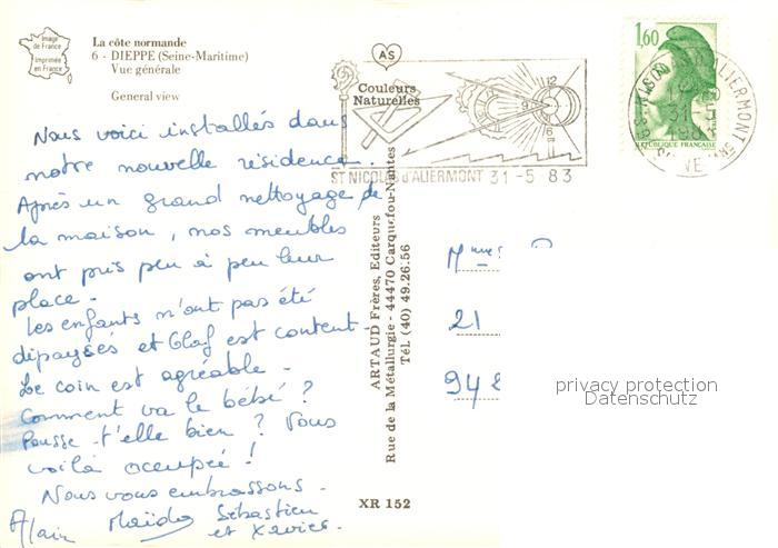 13593211 Dieppe_Seine-Maritime Vue générale Côte normande Dieppe Seine-Maritime
