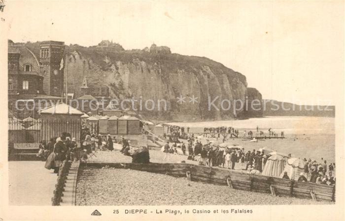 13603172 Dieppe_Seine-Maritime Plage Casino et les Falaises Dieppe Seine-Maritim