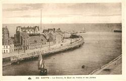 13605898 Dieppe_Seine-Maritime Le Chenal Quai du Hable et les Jetées Dieppe Sein