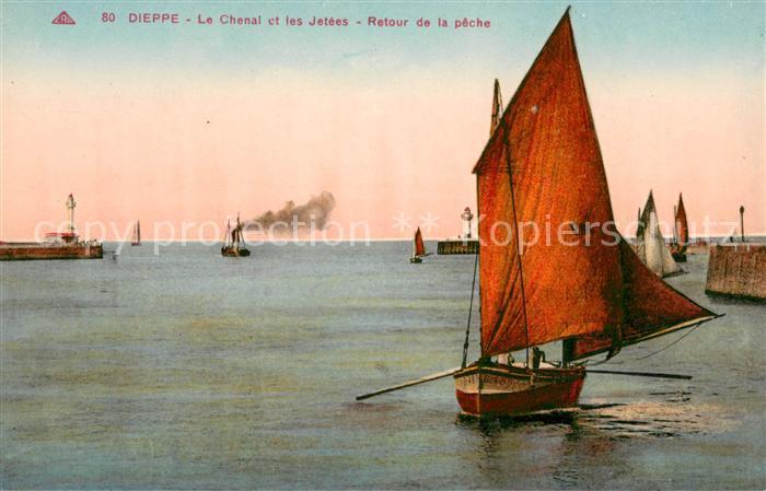 13618289 Dieppe_Seine-Maritime Chenal les Jetees Dieppe Seine-Maritime