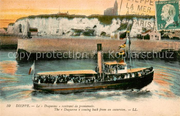 13619084 Dieppe_Seine-Maritime Le Duquesne rentrant de promenade Dieppe Seine-Ma