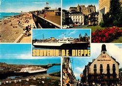 13661716 Dieppe_Seine-Maritime La plage Entrée du port Château Puits salé le Vil