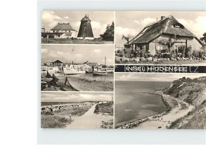 Insel Hiddensee Steilkueste Hafen Strand Vitte