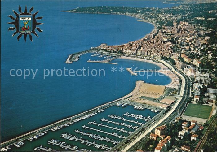 12579624 Menton Alpes Maritimes Vue generale aerienne Port Cote dAzur Menton - 79639, Deutschland - Rücknahmen akzeptiert - 79639, Deutschland