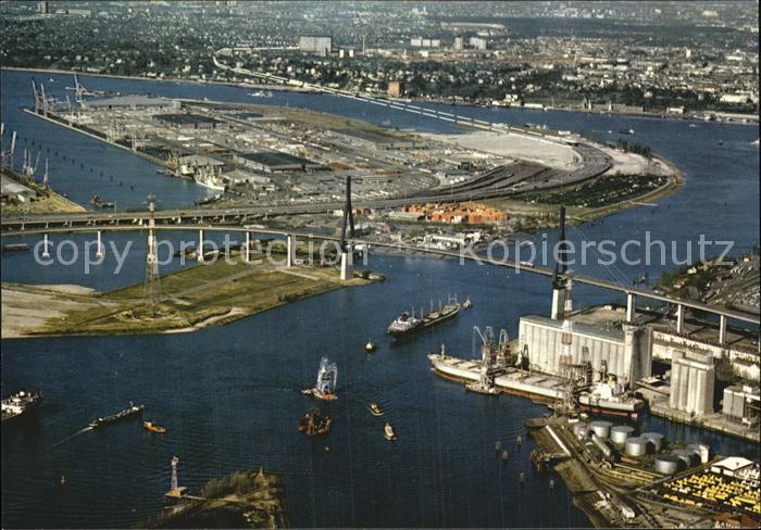 72608740 Hamburg Fliegeraufnahme Koehlbrandbruecke Neuer Elbtunnel Hafen Hamburg - Deutschland - Rücknahmen akzeptiert - Deutschland