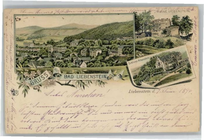 we52183 Bad Liebenstein Schloss Altenstein Ruine Liebenstein x  eBay