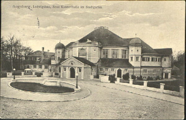 Ludwigsbau am Stadtpark Augsburg 1915
