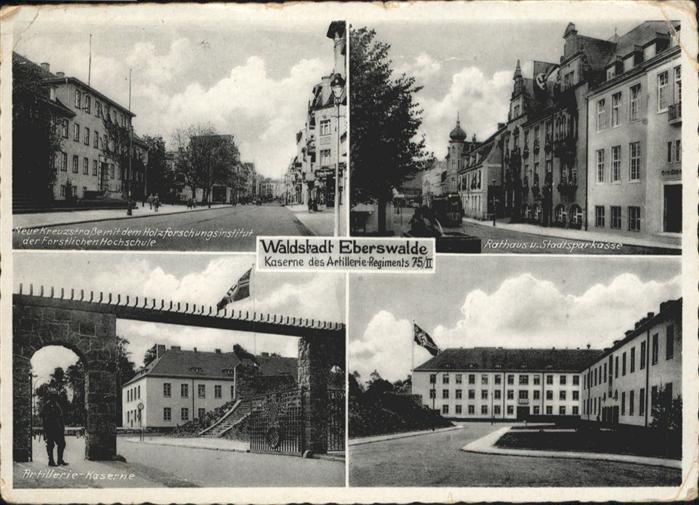 wq90012 Eberswalde Kaserne Regiment 75 Rathaus Sparkasse ...
