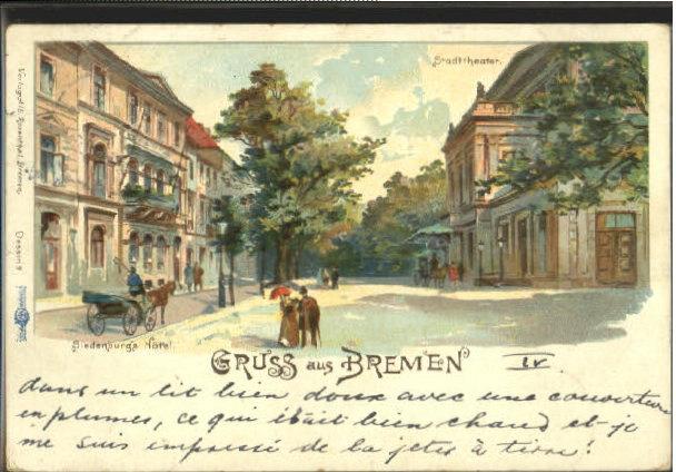 40496952 bremen bremen theater hotel x 1902 bremen ebay. Black Bedroom Furniture Sets. Home Design Ideas