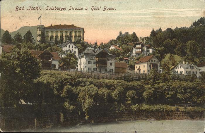Wz58975 Bad Ischl Salzburger Strasse Hotel Bauer Salzkammergut K